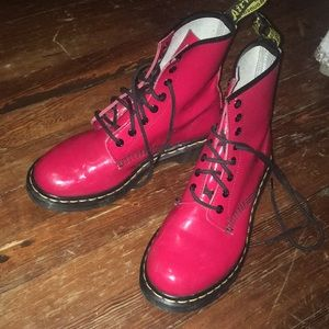Red Patent Leather Docs